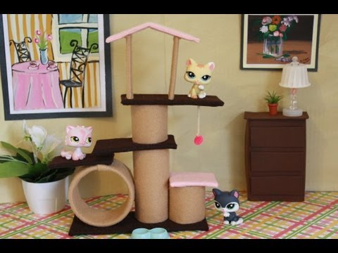 How to Make a Doll Cat Scratching Post Condo: perfect for LPS