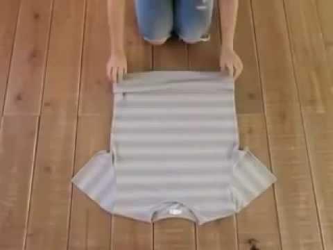 美軍式摺衣法極度節省空間
