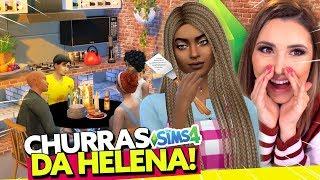 A MÃE DA HELENA APARECEU NO CHURRAS? 😱 | The Sims 4 - Ep. 6