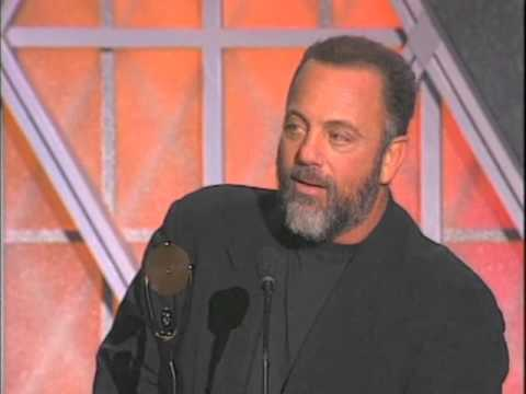 Billy Joel Accepts Rock and Roll Hall of Fame Award in 1999