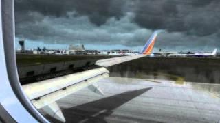 FSX - Stormy Approach to Philadelphia Intl. (best airport freeware scenery)