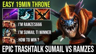 Infinity Flaming War | Sumail Slark Vs Ramzes Troll Warlord 19Min GG Destroy Trashtalker Dota 2