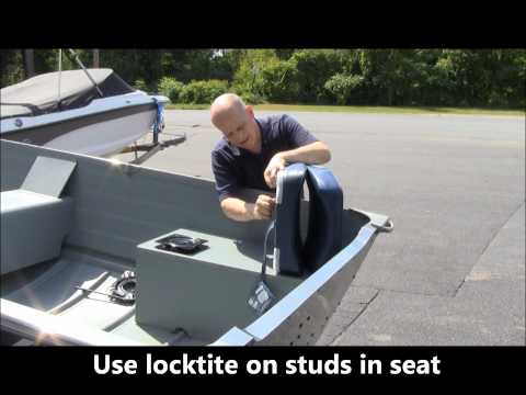 DIY  Installing fishing seats on your row. jon or utility fishing boat.