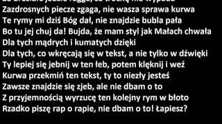 Małach/Rufuz feat Hinol - Nie dbam tekst