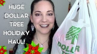 HUGE Dollar Tree Christmas Haul 2015 | Ornaments, Crafts, Decor & More!