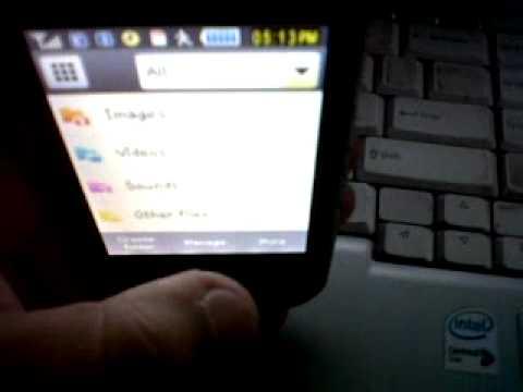 Samsung Corby Wifi video