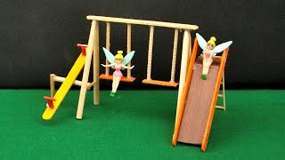 How to Make Popsicle Stick Playground Toy #1 | Easy Crafts Ideas