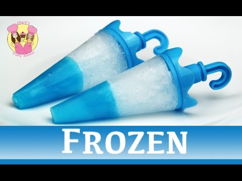 FROZEN JELLO TIP POPSICLES - ice lolly block pop - disney movie princess Elsa Anna