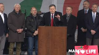 Senator Steve Daines (R-MT) at the March for Life 2019