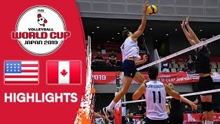 USA vs. CANADA - Highlights | Men's Volleyball World Cup 2019
