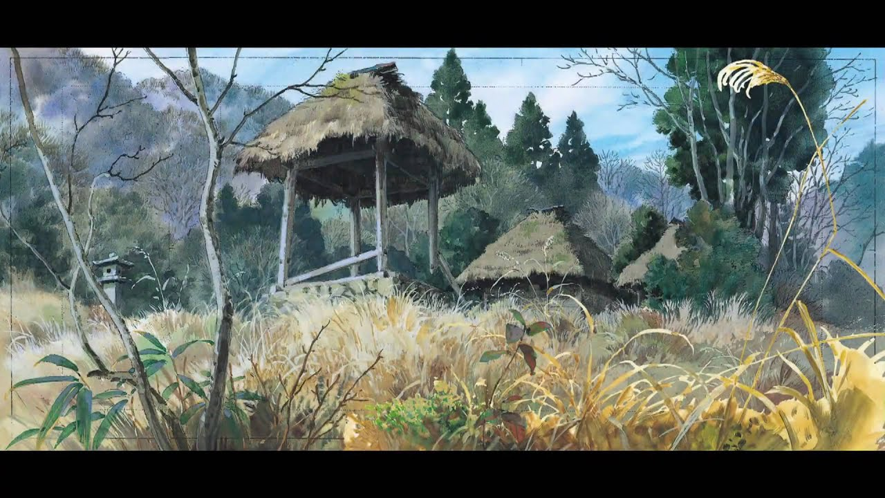 Ghibli Backgrounds by Kazuo Oga - YouTube