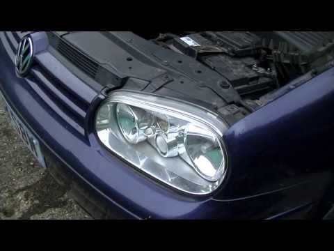 VW Golf Jetta Mk4 Headlight Bulb Replacement 1999-2005