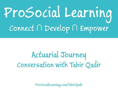 Visit http://www.prosociallearning.com/interviews for even more actuarial exam and career advice and insight from successful actuaries! Actuarial Journey #4:...