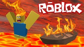 ZWEMMEN IN DE LAVA! *HACK* (ROBLOX SUPER BOMB SURVIVAL)