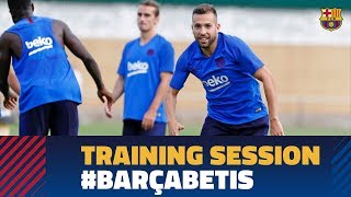Back to work to prepare the match against Betis