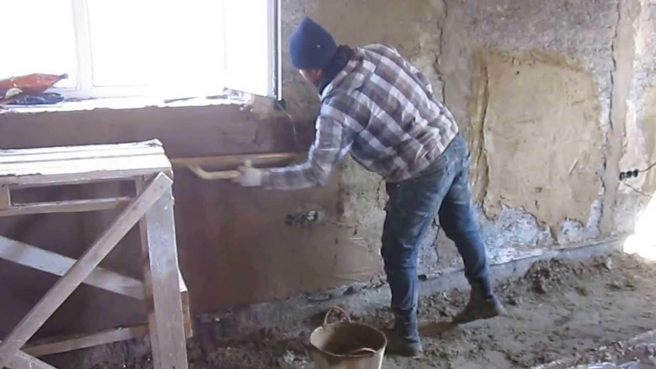 Штукатурка стен своими руками арболита 50