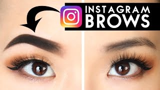 INSTAGRAM BROWS!? | Try The Trend