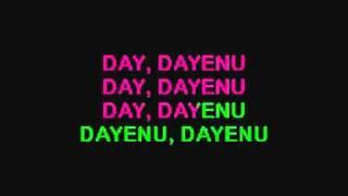 DAYENU (Passover Song) KARAOKE