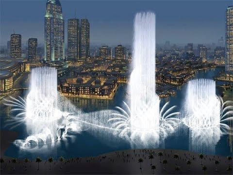 Поющие Фантаны Дубай ,январь 2016