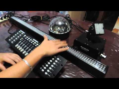 ¿Cómo programar escenas de DMX?. programando en controladora de luces.