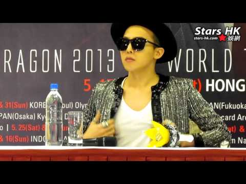 130517 G Dragon World Tour in Hong Kong 記者會 Part 2