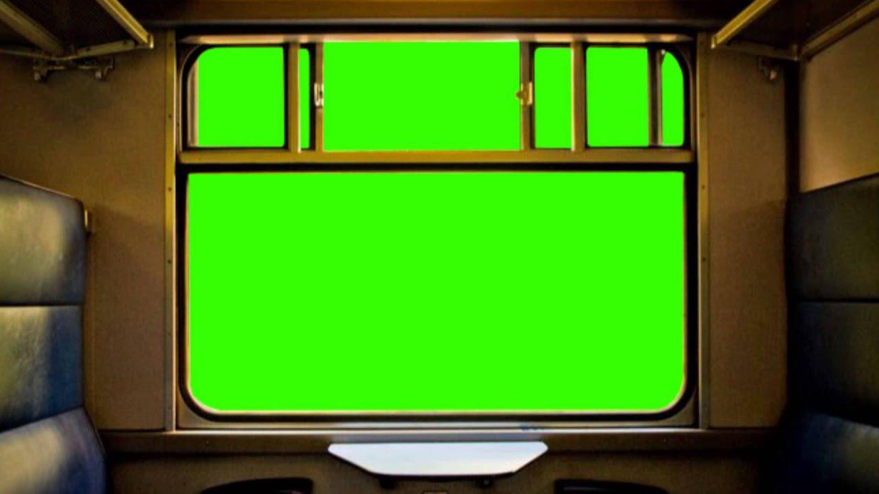 Train Window Green Screen C Youtube