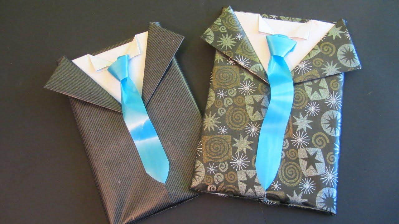 Tutorial: Envoltorio de regalo para caballero. Gift ...