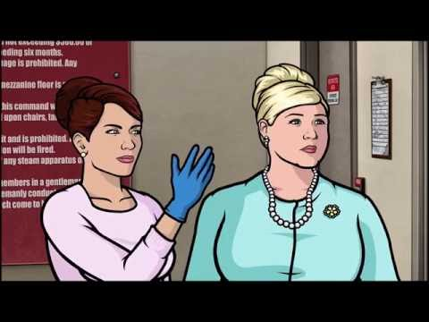 Archer - Cheryl's gloved handjob thumbnail
