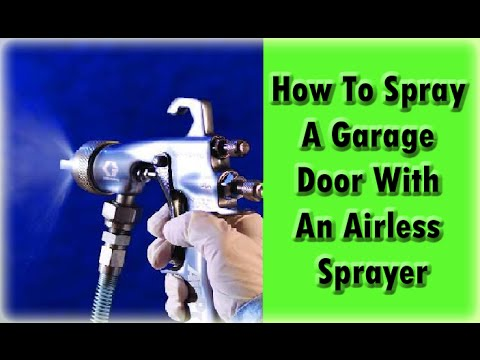 Spray Techniques & Tips Using An Airless Sprayer.  Paint Sprayer Tips.