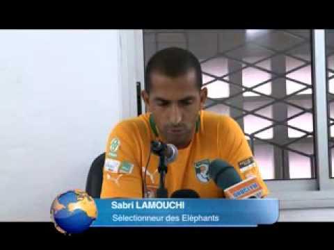 Sport: conférence de presse du sélectionneur ivoirien Sabri Lamouchi