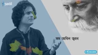 Tumi Robe Nirobe   Pritom ft. Shoeb   Lyric Video   Rabindra Sangeet   2017