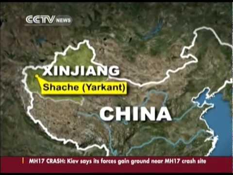 Mob attacks Xinjiang local police station