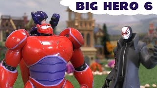 Big Hero 6 Baymax Frozen Queen Elsa Disney Movie Trailer Hiro Yokai Disney Villains Unboxing