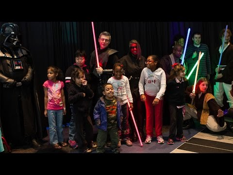 Star Wars Lightsaber Show at a Children's Hospital in New York