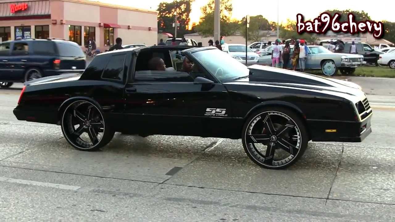 "87 Monte Carlo Ss Black >> ALL BLACK 87 Monte Carlo SS TUCKING 26"" Forgiatos - 1080p HD - YouTube"