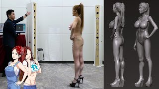 I Got 3D Body Scanned! And You Can Get A Copy of Me!