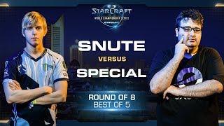 SpeCial vs Snute TvZ - RO8 - WCS Leipzig 2018 - StarCraft II