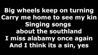 Sweet Home Alabama - Lyrics