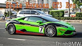 Siêu Xe Lamborghini độ phong cách trường đua Huracan GT3 EVO   SupercarVietnam