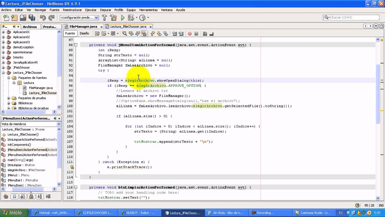 how to add file restrictions jfilechooser netbeans