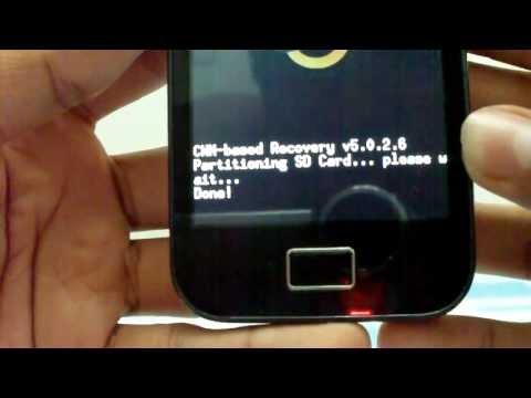 Particionar micro SD en Galaxy Ace (Aumentar memoria interna)