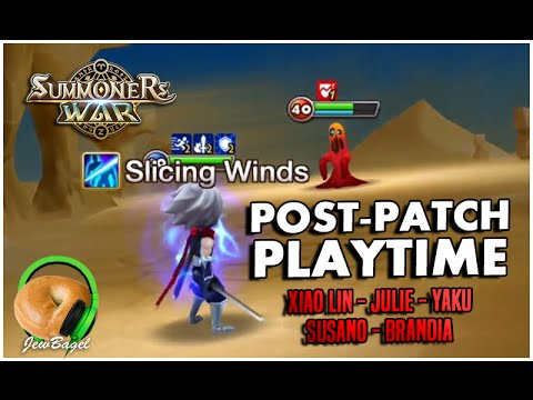 SUMMONERS WAR : Post-Patch Playtime! Xiao Lin, Julie, Yaku, Brandia, and Susano Monster Testing