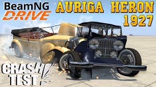 BeamNG Drive Auriga Heron 1927 Old car Crash Test