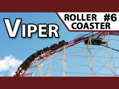 Viper Roller Coaster - Front Row, Six Flags Magic Mountain
