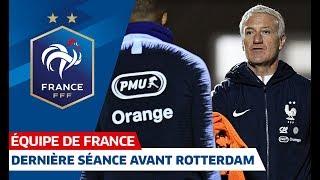 Les Bleus à l'échauffement, Equipe de France I FFF 2018