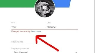 """How to Change Youtube Channel Name Fix """"Changed too recently"""""""