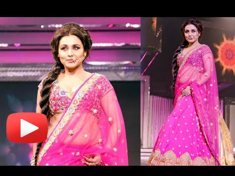 Rani Mukherjee Hot Cleavage And Navel Show In Pink Tranparent...