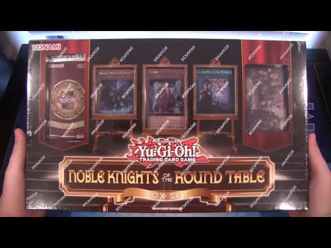 Yugioh Noble Knights Of The Round Table Box Set Opening & Review video