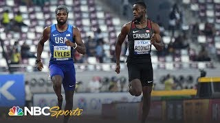 Noah Lyles advances to 200m semifinals at Track and Field Worlds | NBC Sports