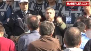 Manisa Soma Duruşma Salonuna Girmek İsteyen Şehit Madenci Yakınlarının Tepki